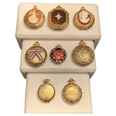 8 Max Factor Vintage Pocket Watch  Collectible Powder & Perfume Compacts
