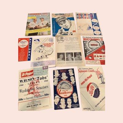 1960 Baseball Sports Memorabilia
