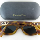 ce5ab489f3f 1980 s Vintage Christian Dior  2974 Simulated Tortoise Sunglasses With  Original Case Rare Model. Click to expand