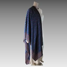 1970's Vintage Fisba-Stoffels Printed Silk Shawl