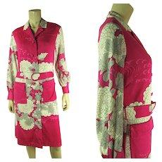 1970's Vintage Hanae Mori Printed Jersey Dress
