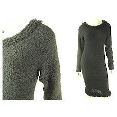 Elegant Clove Vs Cloves Y. Hiromi Boucle Knit Sheath Dress