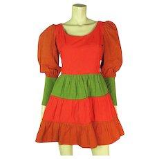 1960's Vintage Fred Leighton Color Block Mini Dress