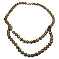 Massive 42 Inch Vintage Mexican Sterling Silver Bead Necklace