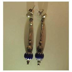 2 1/2-Inch Vintage Native American Dangle Earrings With Trade Beads And Post Findings