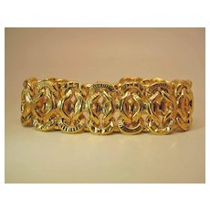 Glowing 8 3/4 x 1-Inch Gold Washed Sterling Silver Bracelet By Itaor