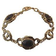 Antique Italian 800 Silver And Lapis Rococo Bracelet