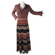 1970's Vintage Soft Wool Moden Maxi Skirt