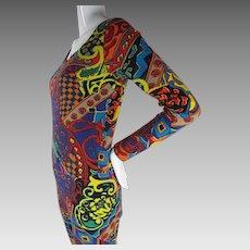 Vintage 1980's Betsey Johnson Punk Label Bodysuit / Jumpsuit