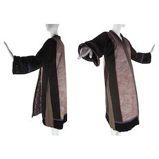 Outstanding 1980's Mixed Fabric Winter-Weight Ashanti New York Coat