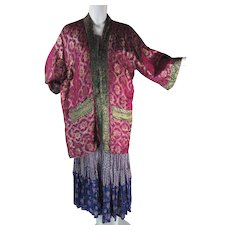 Sumptuous And Colorful 1960's Vintage Silk Lamé Jacket