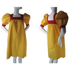 1970's Vintage Yves Saint Laurent Rive Gauche Peasant Dress