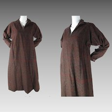 Vintage Dated 1963 Marimekko Cotton Dress In Rare Print