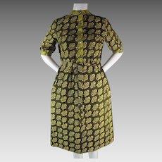 1964 Vintage Marimekko Hedelmakori (Fruit Basket)  Printed Cotton Dress With Design Research Label