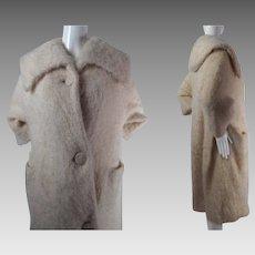 Plush 1950's Vintage Jacques Griffe De Paris Coat
