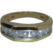 Vintage Men's / Unisex 14K Yellow Gold Ring With .5 Carats Of Diamonds