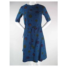 1960's Vintage Marimekko Belted Shift Dress