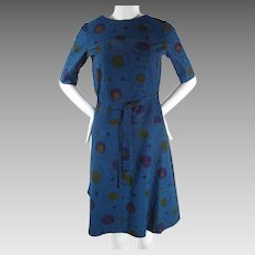 1960's Vintage Marimekko Belted Shift Dress