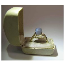 14K Yellow Gold 2.8 Carat Moonstone Maine Estate Ring
