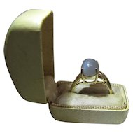 14K Yellow Gold 2.8 Carat Moonstone Maine Estate Ring