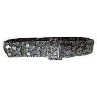 1960's Italian Silver Mid Century Modernist / Brutalist Bracelet