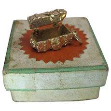 Vintage 14K Gold Mechanical Treasure Chest Charm