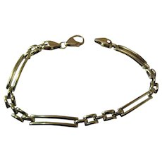 Vintage 14K Yellow Gold Gate Link Bracelet