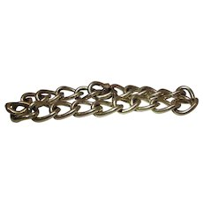 Vintage 12 MM 8-Inch 14K Yellow Gold Curb Chain Bracelet 37.2 Grams