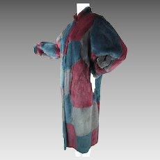 Luscious Vintage Dyed Rabbit Patchwork Coat
