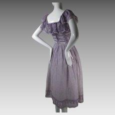 1970's Vintage Saz Boutique Sunjit & Adarsh Gill Dress