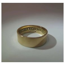A.L. Ott 14K Gold 14th Degree Masonic Ring With Internal Motto Dated 1926