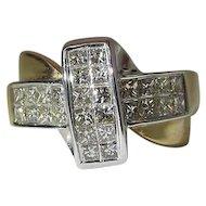 14k Yellow Gold 1.2 Carat Princess Cut Diamond Ring