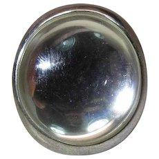 Robert Lee Morris RLM Studio Sterling Silver & Rock Crystal Ring Size 10.25