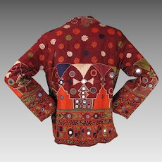 Antique Indian Embroidered & Mirrored Kutch Jacket