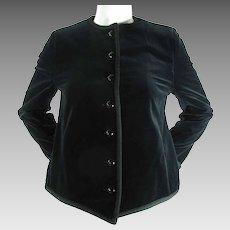 1970's Vintage Yves Saint Laurent Rive Gauche Black Velveteen Jacket