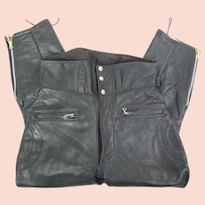 1950's Beck Northeaster Flying Togs Horsehide Leather Jodhpur Motorcycle Pants