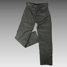 Vintage Hein Gericke For Harley Davidson Belted Leather Motorcycle Pants 34 x 30
