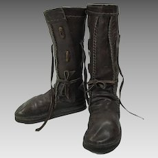 Great 1960's Vintage Bald Mountain Style Handmade Leather Boots
