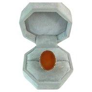 Vintage 14K Gold 10 Carat Carnelian Ring