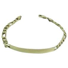 Vintage 14K Gold 8 1/2-Inch x 6-mm / 1/4-Inch Figaro Chain Bracelet 15.4 Grams