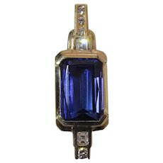 Fine Natural Vivid Blue 3.63 Carat Tanzanite & Diamond Pendant W/ Appraisal