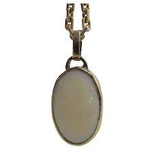 Vintage 14K Gold 5.2 Carat Opal Pendant