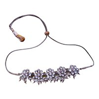 Beautiful & Exotic Vintage 22K Gold Fill On Pure Silver Kundan Necklace