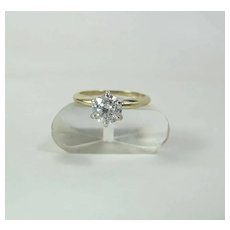14K Yellow Gold 1.02 Carat Diamond Solitaire Engagement Ring By S. Stambler
