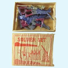 Complete Boxed Set Of Tiny Antique Tin Soldiers