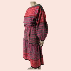 Colorful And Exotic Vintage Embroidered & Appliqued Hmong Dress