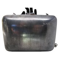 1980's Vintage Pierre Cardin Gunmetal Shoulder Bag / Clutch