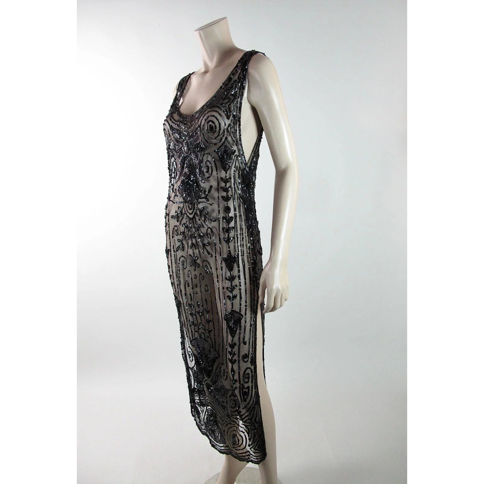 466417b901d Art Deco 1920 s Vintage Sequined Tabard Style Evening Dress   Marzilli  Vintage