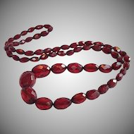 Art  Deco Cherry Amber Bakelite Beads