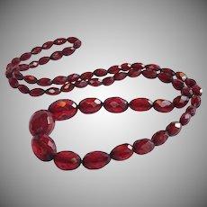 Art  Deco Cherry Amber Bakelite Beads